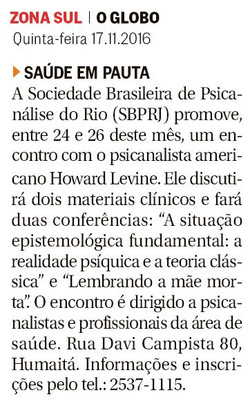 O Globo - Zona Sul