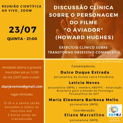 """Discussão clínica sobre o personagem do filme""""O AVIADOR""""(HOWARD HUGHES)"""