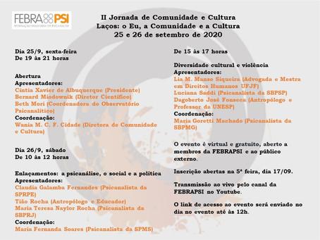 II Jornada de Comunidade e Cultura - Febrapsi