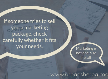 Have I got a deal for you! The dos and don'ts of marketing packages.