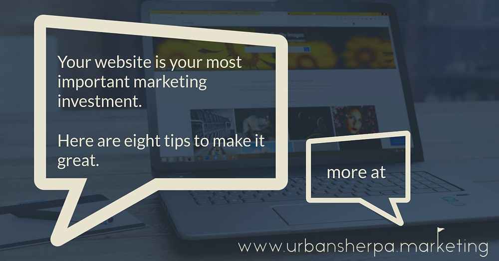 Speech bubble that says your website is your most important marketing investment