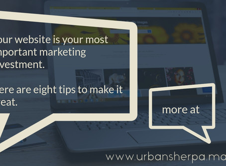 The official Urban Sherpa great website checklist.