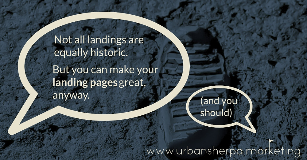 Make your landing pages great.
