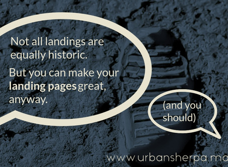 Coming in for a landing: the art and (necessary) science of landing pages