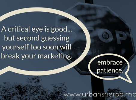How to succeed in marketing your business: learn the patience game