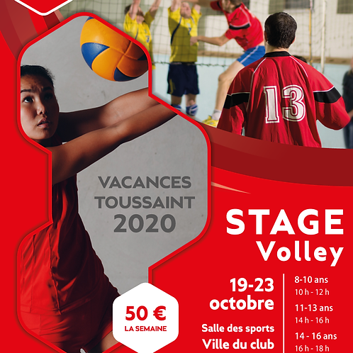 AFFICHE / FLYER STAGE VOLLEY-BALL