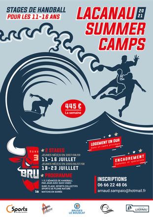 Affiche A3 stage Handball