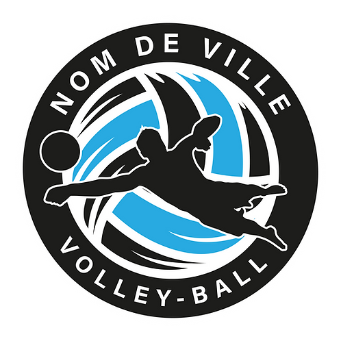 LOGO VOLLEY-BALL PLAYER 5