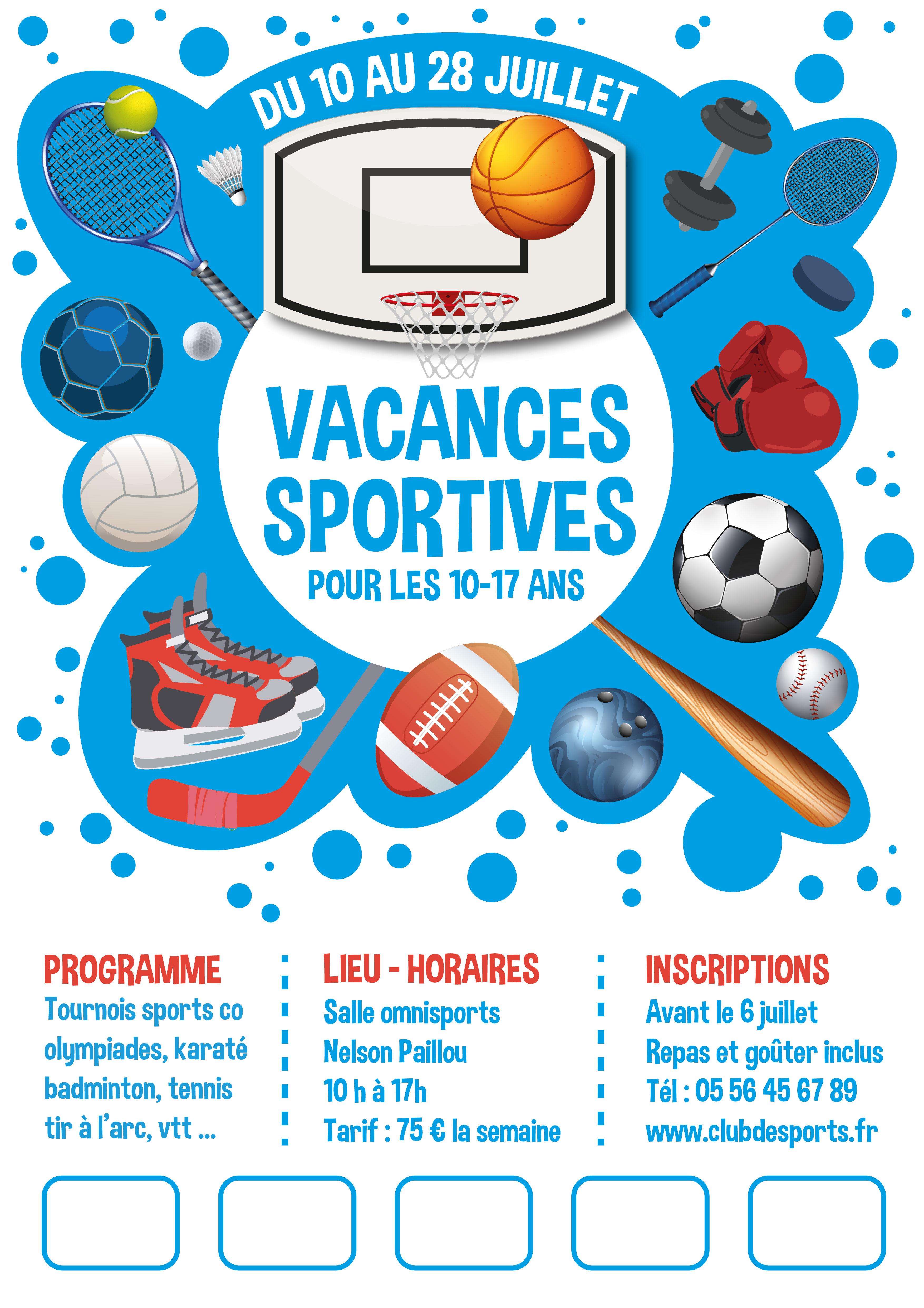 Modèle Vacances Sportives n°1
