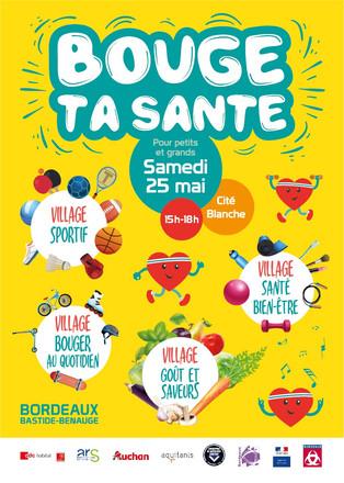 Affiche Bouge ta santé - Girondins de Bordeaux Bastide Handball - Mairie de Bordeaux