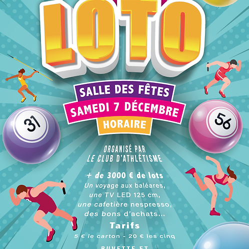 AFFICHE / FLYER LOTO ATHLETISME