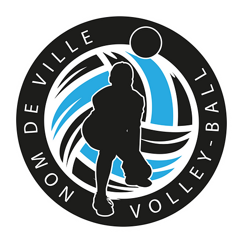 LOGO VOLLEY-BALL PLAYER 7