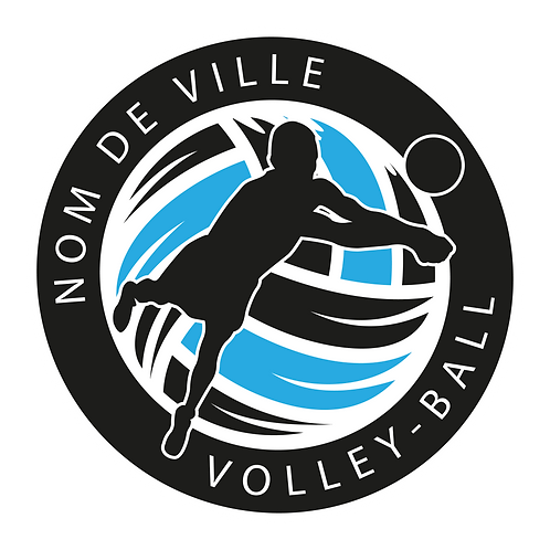 LOGO VOLLEY-BALL PLAYER 6
