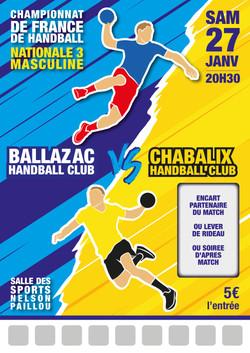 Modèle match handball n°4
