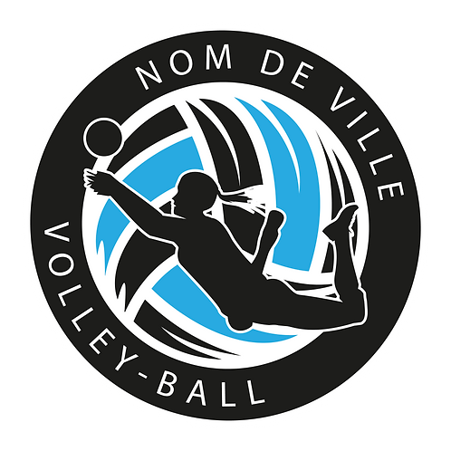 LOGO VOLLEY-BALL PLAYER 9