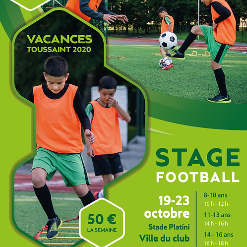 AFFICHE / FLYER STAGE FOOTBALL