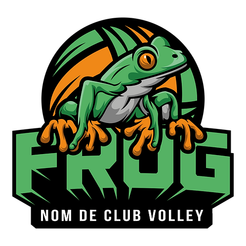 LOGO VOLLEY-BALL GRENOUILLE