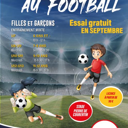 AFFICHE PORTES OUVERTES FOOTBALL