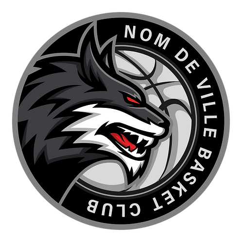 LOGO BASKET-BALL LOUP