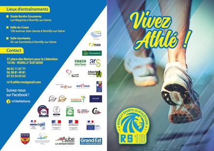Brochure de rentrée - Vivez Athlé - Romilly Athlétisme