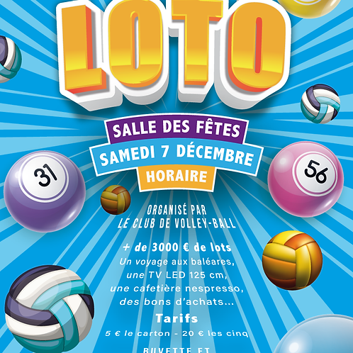 AFFICHE / FLYER LOTO VOLLEY-BALL