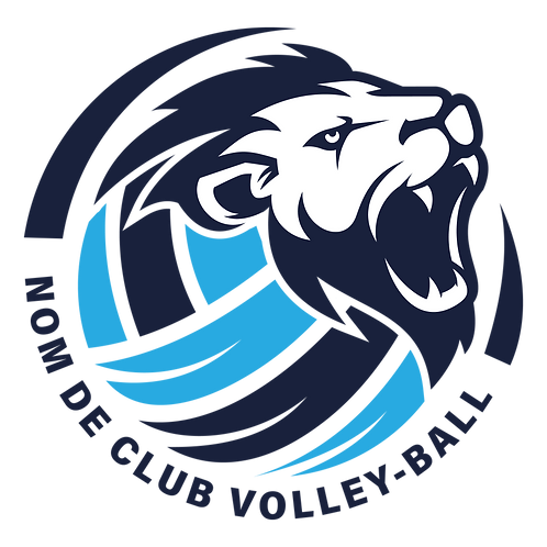LOGO VOLLEY-BALL LION