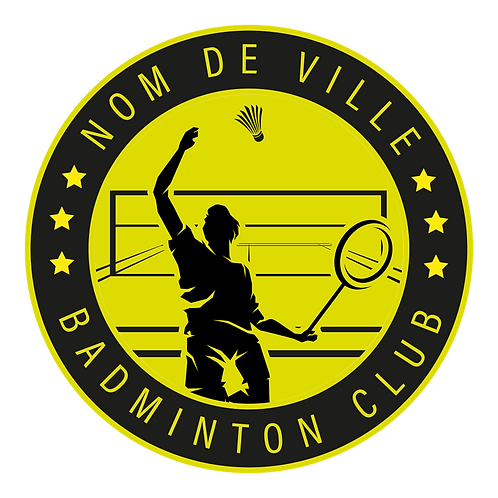 LOGO BADMINTON PLAYER 8