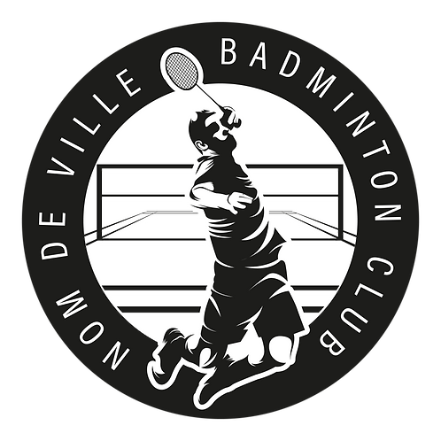 LOGO BADMINTON PLAYER 3