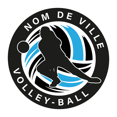 LOGO VOLLEY-BALL PLAYER 4