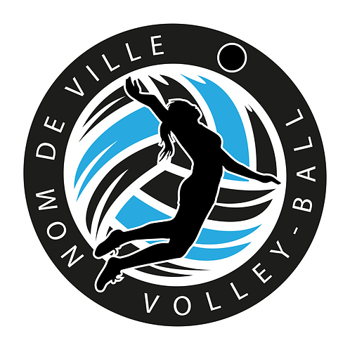 LOGO VOLLEY-BALL PLAYER 10
