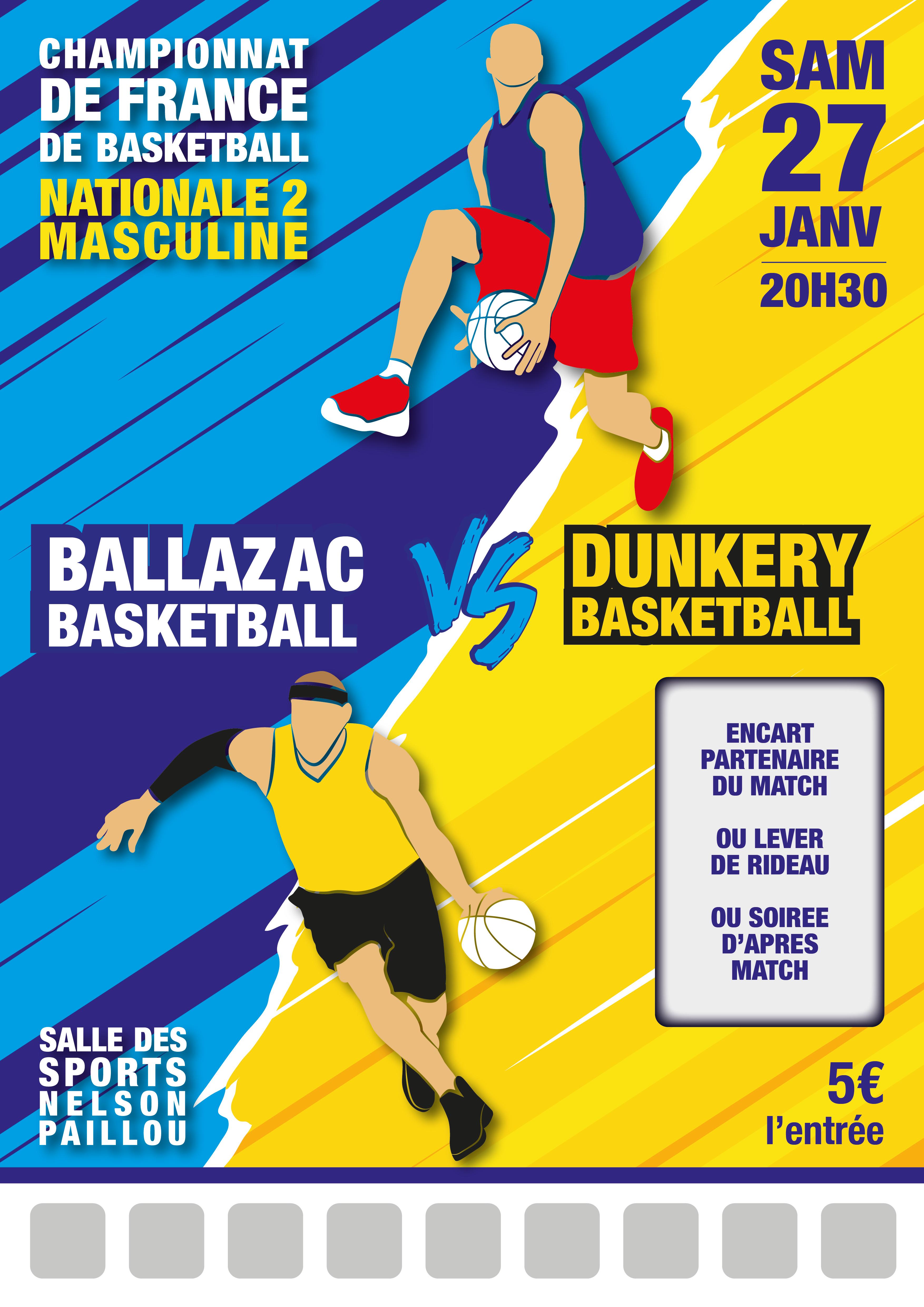 Modèle match basket n°2