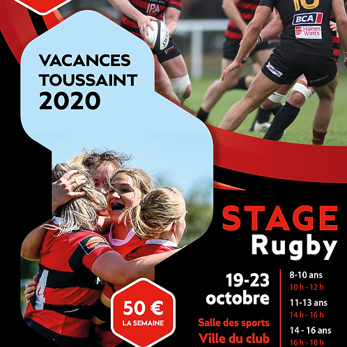 AFFICHE / FLYER STAGE RUGBY