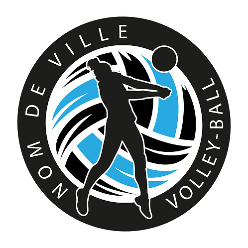 LOGO VOLLEY-BALL PLAYER 12