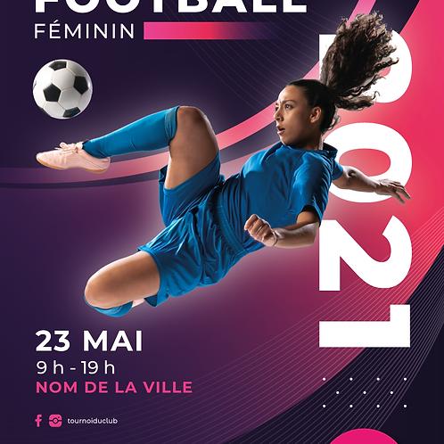AFFICHE / FLYER TOURNOI DE FOOTBALL