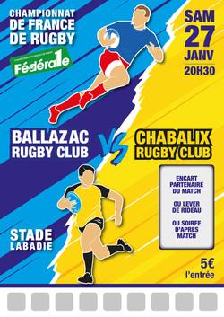 Modèle match rugby n°1