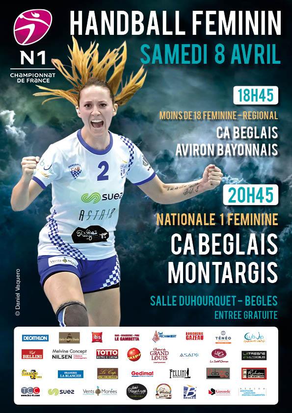 Affiche match handball