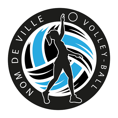 LOGO VOLLEY-BALL PLAYER 8