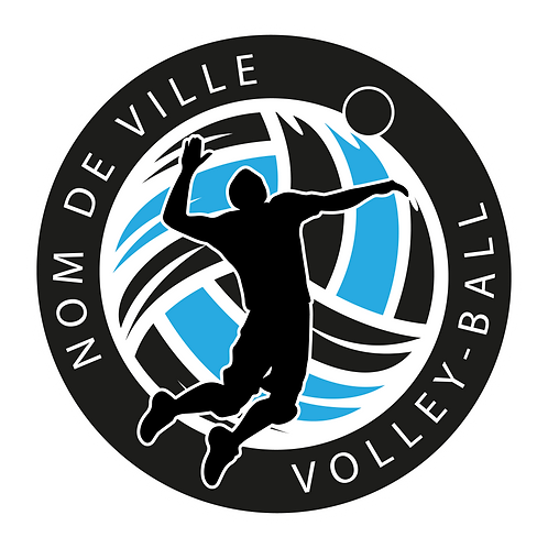 LOGO VOLLEY-BALL PLAYER 11