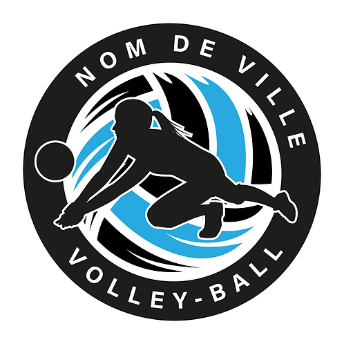 LOGO VOLLEY-BALL PLAYER 3