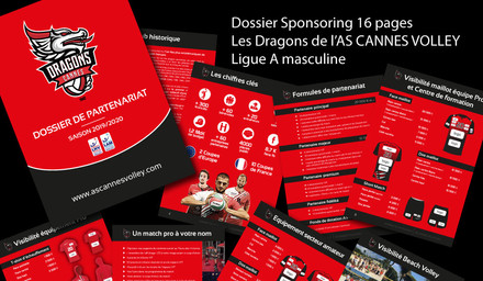 Dossier de partenariat 16 pages - As Cannes Volley-Ball