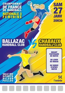 Modèle match handball n°3