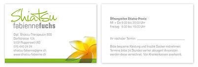 Visitenkarten Shiatsupraxis Fabienne Fuchs Rupperswil