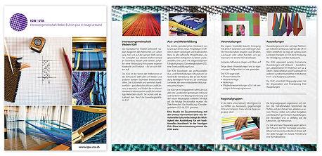 Flyer Faltflyer IGW Interessengemeinschaft Weben