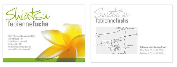 Postkarte Event Veranstaltung Shiatsu Fabienne Fuchs Aargau