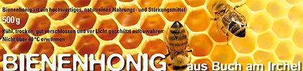 Etiketten Honigläser Bienenhonig Buch am Irchel