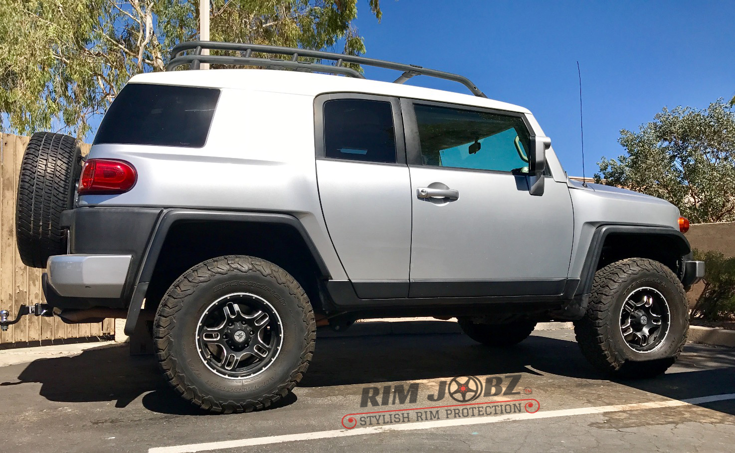 Silver RimSavers on Fj Cruiser