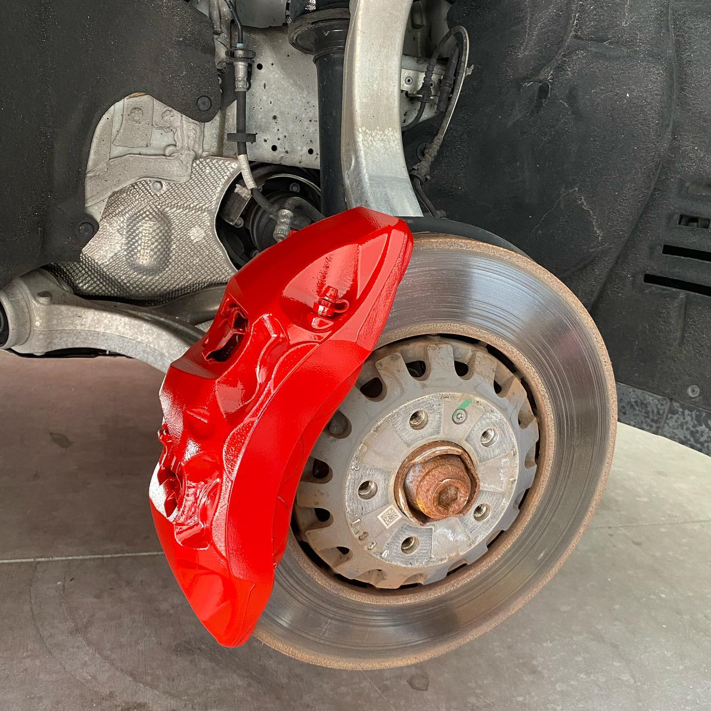 We paint brake calipers for Cars/SUVS