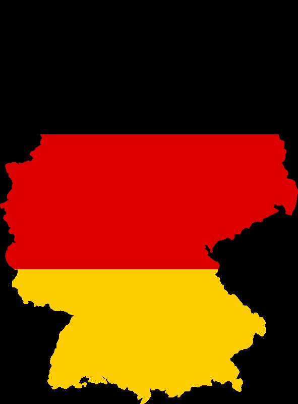 Germany map 德國地形