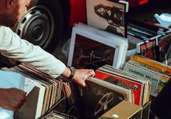 Vintage Vinyl-Schallplatten