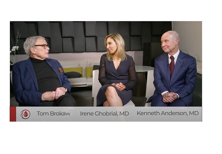 Tom Brokaw, Dr. Irene Ghobrial and Dr. Kenneth Anderson discuss multiple myeloma